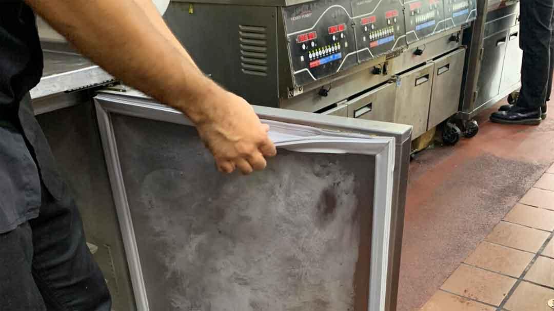 broken door deal on under counter freezer